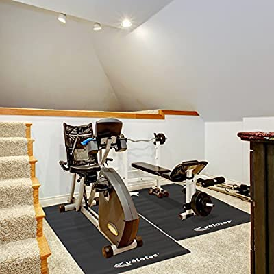 Velotas High Density Equipment and Treadmill Mat, 3' x 7', Black