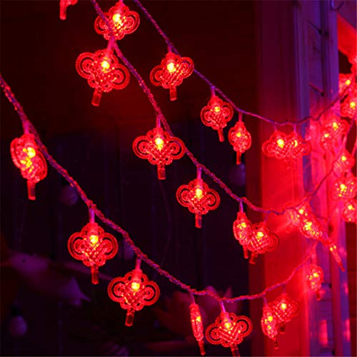 BGFHDSD AC 220V LED Lighting String Chinese Knot Lights Garland Chandelier New Year Fairy Wedding Christmas Supplies Decor. Nudo UK Plug by BGFHDSD (Image #5)