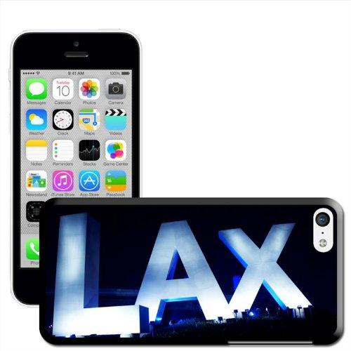Fancy A Snuggle Coque Motif Los Angeles International Airport 'LAX Coque arrière rigide à clipser pour Apple iPhone 5C