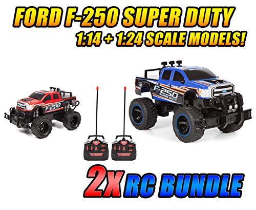 1:14 and 1:24 Ford F-250 Super Duty RTR Electric RC Monster Truck 2-Pack Bundle