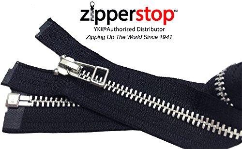 ZipperStop Wholesale YKK® - Jacket Zipper Aluminum Finished
