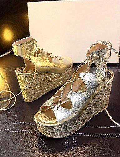 ShangYi Damens's Schuhes Schuhes Schuhes Patent Leder Wedge Heel Wedges / Platform / Slingback / Gladiator / Comfort / Novelty / Ankle Strap / golden 748276