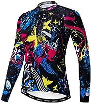 Cycling Jersey Women Biking Jersey Long Sleeve Cycling Shirt Top Ladies MTB Bicycle Clothing