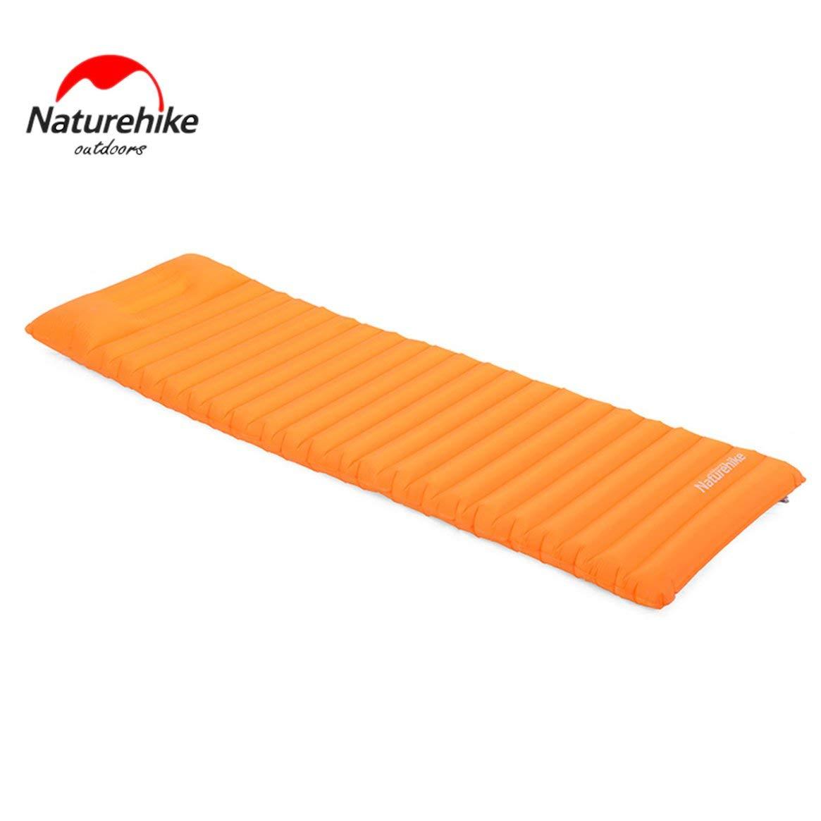 Delicacydex Naturehike Ultraleichtes Außenluftmatratze feuchtigkeitsfestes aufblasbares Matten-Kissen mit Camping-Zelt-kampierender Schlafenauflage TPU - Orange