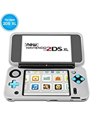 TNP Case Compatible with New Nintendo 2DS XL LL Silicone Case (White) - Non-Slip Grip Cover Gel Sleeve Soft Rubber Protective Skin Game Console Accessories