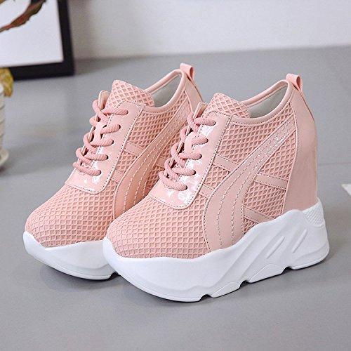 una di scarpe high tutto shoes maggiore 37 11 autunno studente rosa heeled sportive 13cm corrisponde GTVERNH scarpe scarpe cravatta spesse Rx7npqTT
