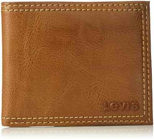 Levi's Men's Extra Capacity Leather Slimfold