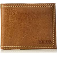 Levi's Men's Extra Capacity Leather Slimfold (Tan)