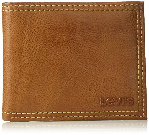 Levi's Men's Extra Capacity Slimfold Wallet,Tan ()