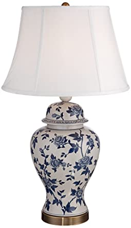 Rose vine blue and white temple jar table lamp amazon rose vine blue and white temple jar table lamp mozeypictures Images
