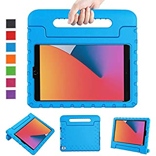 """LTROP New iPad 8th Generation Case, iPad 10.2 Case, iPad 7th Generation Case for Kids, iPad 10.2 2020 Kids Case Shockproof Light Weight Handle Stand Case for iPad 8th/ 7th Gen 10.2"""" and Air 3 - Blue"""