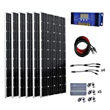 ECO-WORTHY 1000W 1KW Monocrystalline 24 Volt Off Grid Solar Panel Kit with 60A Charge Controller
