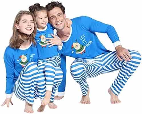 Family Christmas Pajamas Xmas Pajamas Sets Outfit Letter Print Matching  Family PJS Womens Mens Kids Homewear 99ab0fa54