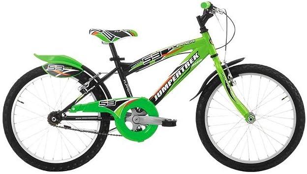 JUMPERTREK Jumpberrek - Bicicleta de montaña (20 Unidades, Acero de 6 V, Negro-Verde, Talla 30 (Shimano ty-21 + Revo-Shift 35): Amazon.es: Deportes y aire libre