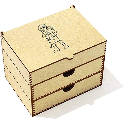 Azeeda 'Pirate Girl' Vanity Case / Makeup Box -