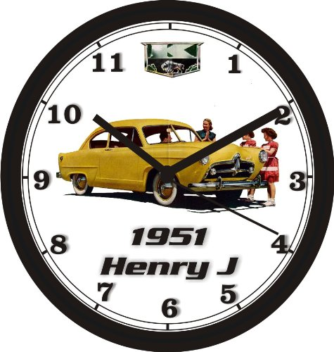 1951 KAISER HENRY J WALL CLOCK-Free USA - Buick 1951 Color