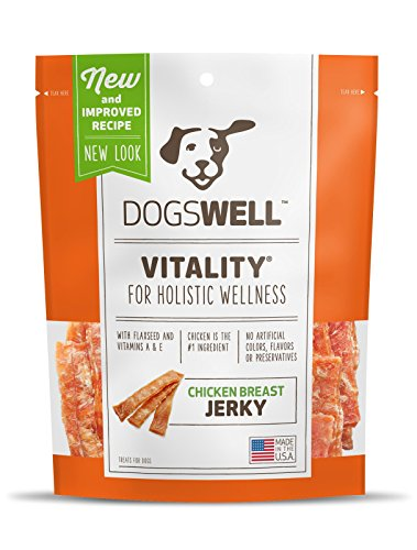 Dogswell VITALITY CHICKEN BREAST JERKY TREATS 24 OUNCE NATURAL RECEIPE HEALTHY MADE IN USA (1 BAG) -
