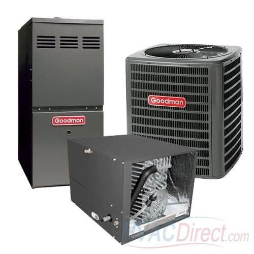 GOODMAN AIR CONDITIONER 3 TON 14 SEER AND 80% AFUE 100,000 BTU GOODMAN GAS FURNACE SYSTEM HORIZONTAL - GSX140361 / CHPF3743C6 / GMVC81005CN (Furnace Humidifier Goodman)