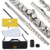 Glory-Closed-Hole-C-Flute-With-Case-Tuning-Rod-and-ClothJoint-Grease-and-Gloves-Nickel-SiverMore-Colors-availa