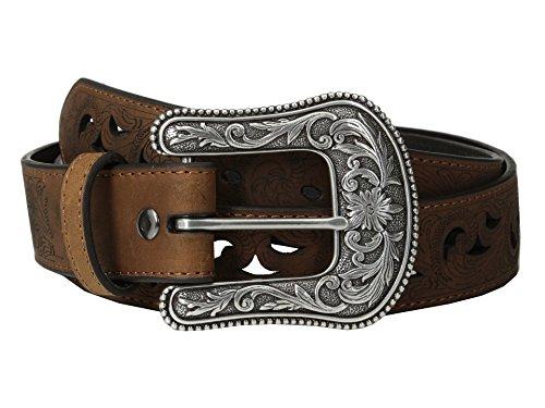 Ariat Women's Scroll Paisley Pierced Belt Brown XL (42