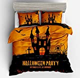 Fabulous Happy Halloween Cotton Microfiber 3pc 104''x90'' Bedding Quilt Duvet Cover Sets 2 Pillow Cases King Size