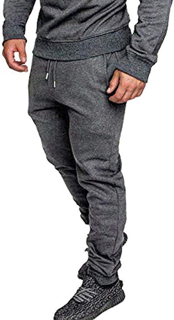 Pantalones de entrenamiento para hombre, de camuflaje, ajustados, para correr, hacer deporte, yoga, culturismo, fitness, chándal, chándal, ocio, correr, a rayas, estrechos, bajos de las perneras gris L: Amazon.es: Ropa y accesorios