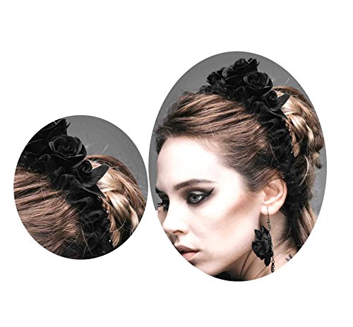 [Goth Visual Aristocrat victorian overlapping rose bonnet headband AS024] (Victorian Aristocrat Costume)
