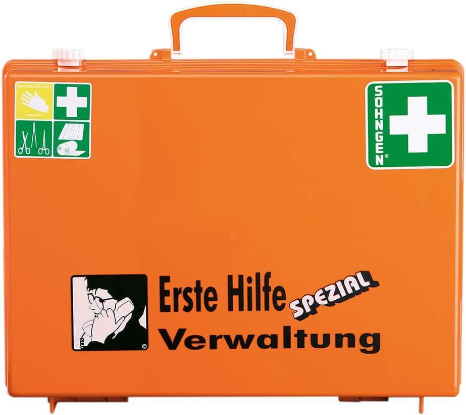 SÖhngen 0360110 Erste Hilfe Koffer Spezial Verwaltung Verbandskoffer Mit Wandhalterung Orange Asr A4 3 Din 13157 Aus Kunststoff Mit PrÜfplakette Baumarkt