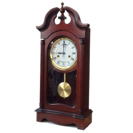 GongDi Reloj de Mesa Cerradura Retro péndulo Cerradura Muebles Sentado 61x31x14cm de Metal de Campana
