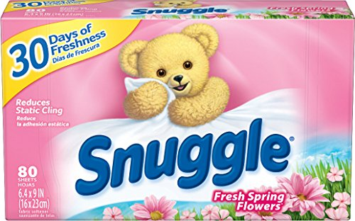 ner Dryer Sheets, Spring Fresh Flowers, 80 Count ()