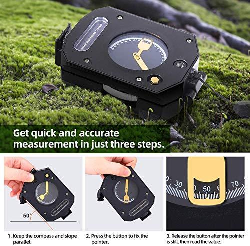 Sportneer Boussole d'observation légère avec inclinomètre, calculateur de Distance, boussoles de Survie Militaires… 4