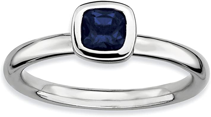 Sapphire Eternity Ring Jewelry Best Seller Sterling Silver Stackable Expressions Polished Cr