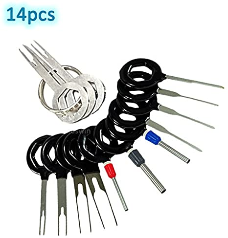 adduswin t0025d auto terminals removal key tool set car electrical wiring crimp connector extractor puller release pin kit Auto Electrical Wiring Pigtail