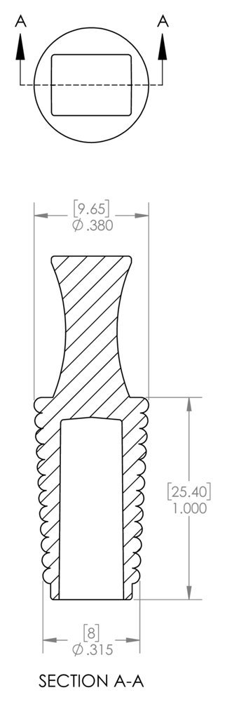 Caplugs SH-31659 Masking NBR Flangeless Plug Nitrile Black to Plug Mini 0.315 Medium 0.38 Height 1 Caplugs Inc. to Plug Min 0.315 Max 0.38 Height 1 FP00406 to Plug Mini 0.315 Medium 0.38 Height 1