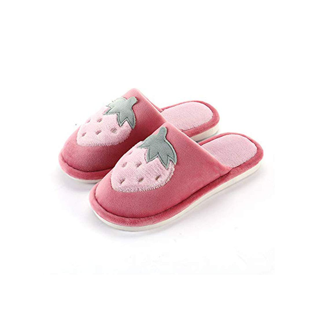 Strawberry Cotton Slippers Womens Indoor Cute Slippers Soft Slip Shoes Christmas New Year Thanksgiving Gifts