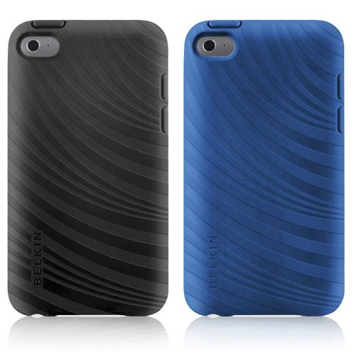 Belkin F8W012ebC00-2 Essential 023 Case for Apple iPod Touch 4G - 2 Pack - Blacktop/Civic Blue