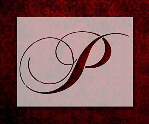(Large Big Script Cursive Letter P 11