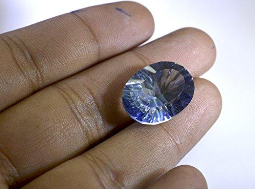 quartz mystique pierre lâche ovale à facettes 1 pc 15x20 mm stmqu-54011