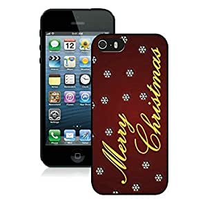 2014 Latest Iphone 5S Protective Case Merry Christmas iPhone 5 5S TPU Case 94 Black