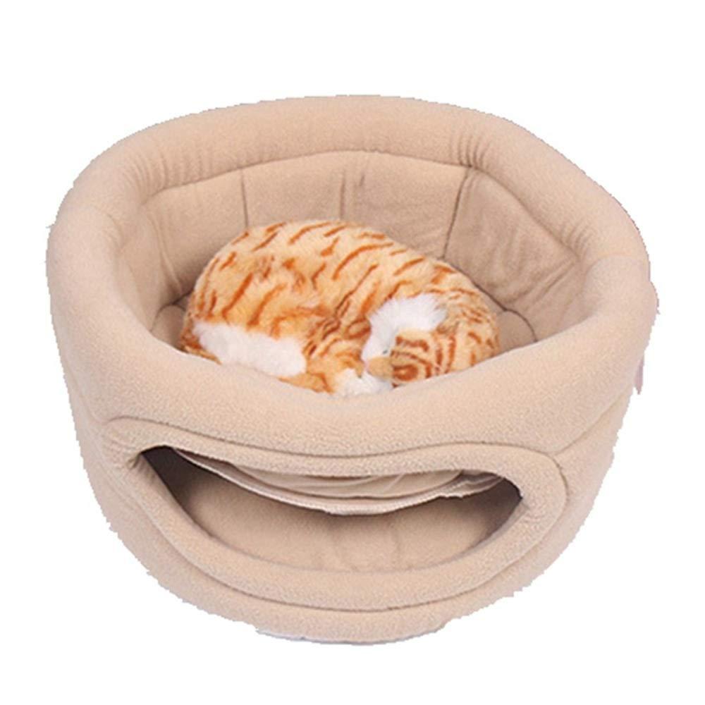 Beige CCJW Pet Supplies Pet Nest Cat Litter, Kennel, Four Seasons Universal (color   Beige)