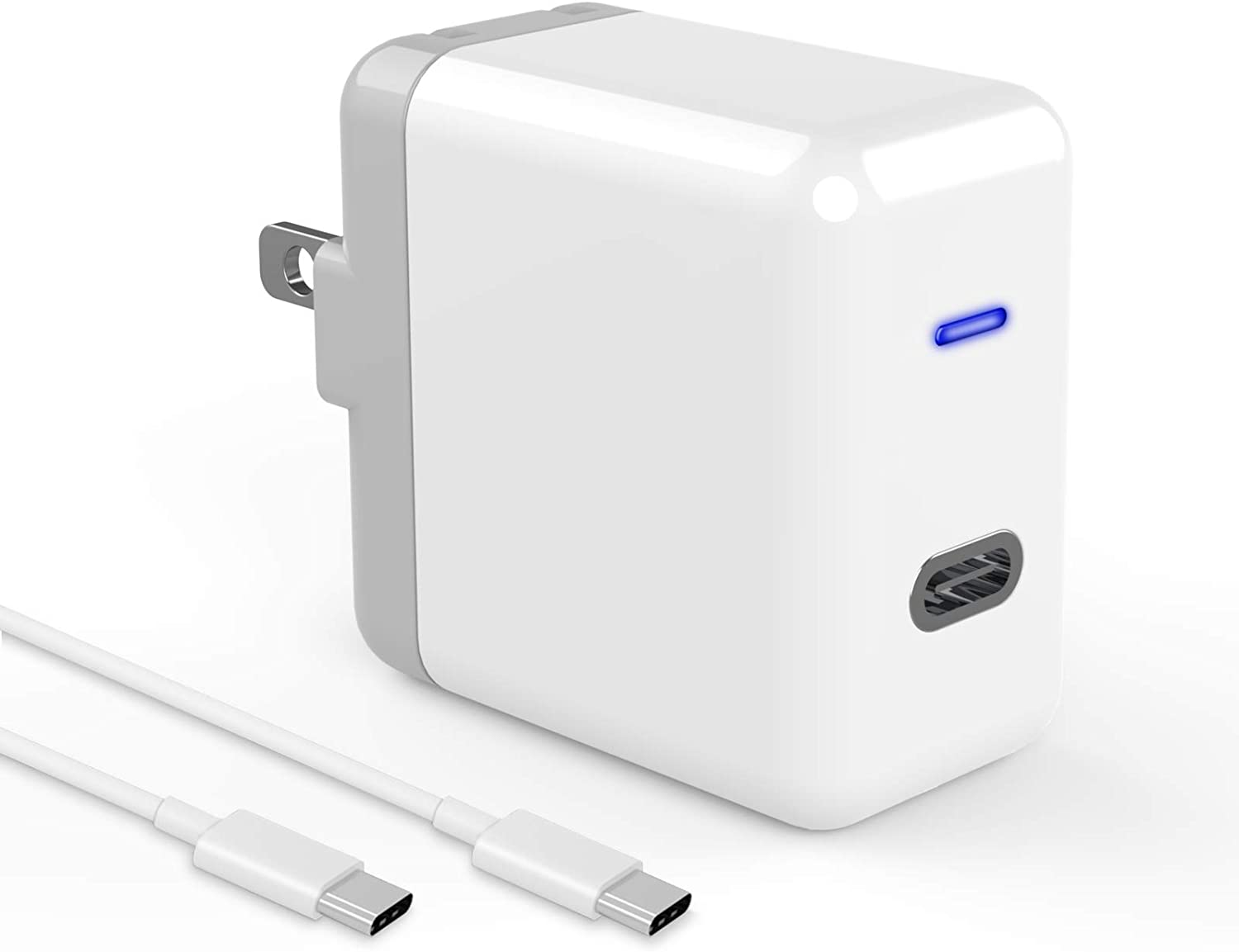 18W USB C Fast Charger for i-Phone 12/11, Compatible with i-Pad Pro 12.9, Pro 11 inch 2020/2018, Fast Wall Charger Type C for Galaxy S20/S10/S9, Pixel 5/4/3/2 Power Adapter with 6.6ft USB C to C Cable