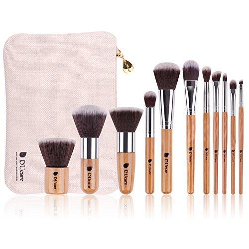 11pcs/set Bamboo make up brush tool kit - 6