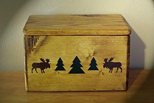 Rustic Cabin/Lodge Decor...The Moose River Handmade Storage Box