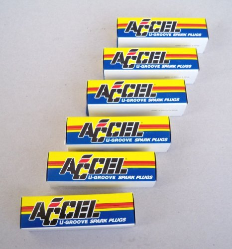 Accel Performance Resistor U Groove Spark Plugs 8190 574 - Pack of Six