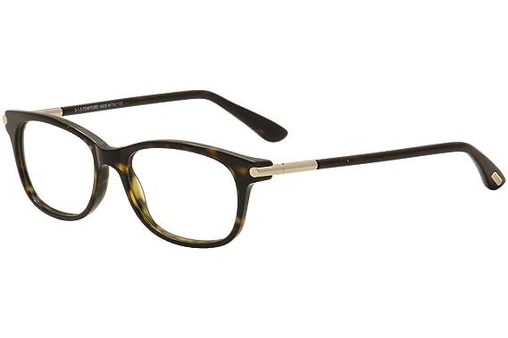 94d1360c8818 Amazon.com  Tom Ford Tf 5237 Havana Frame Clear Lens 52Mm  Clothing