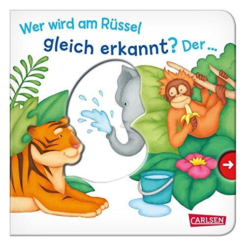Wer wird am Rüssel gleich erkannt? Der ... Elefant!: Mein erster Reime-Bilder-Spaß mit Schieber: Zootiere