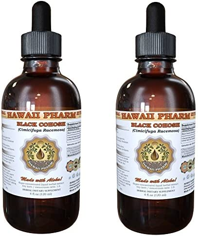 Black Cohosh Liquid Extract, Organic Black Cohosh Cimicifuga Racemosa Tincture Supplement 2×4 oz