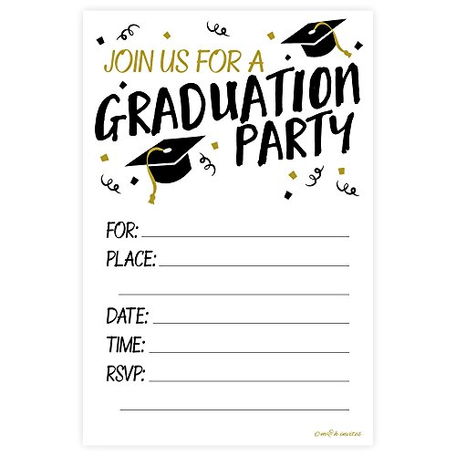 Graduation Party Fill In Invitations with Envelopes (20