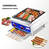 bbq grill radiant - Commercial Countertop Radiant CharBroiler - KITMA 24 Inches Natural Gas Char Broiler with Grill - Restaurant Equipment for Barbecue