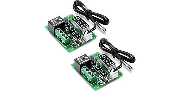 HiLetgo 2pcs W1209 12V DC Placa de controlador de ...